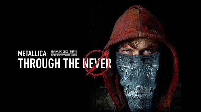 """Through the never"". Metallica -- plakat do filmu."